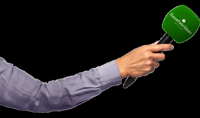 Hånd med mikrofon